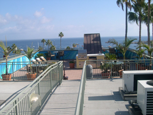Hotel on Catalina Island with custom tile pattern deck, modified 